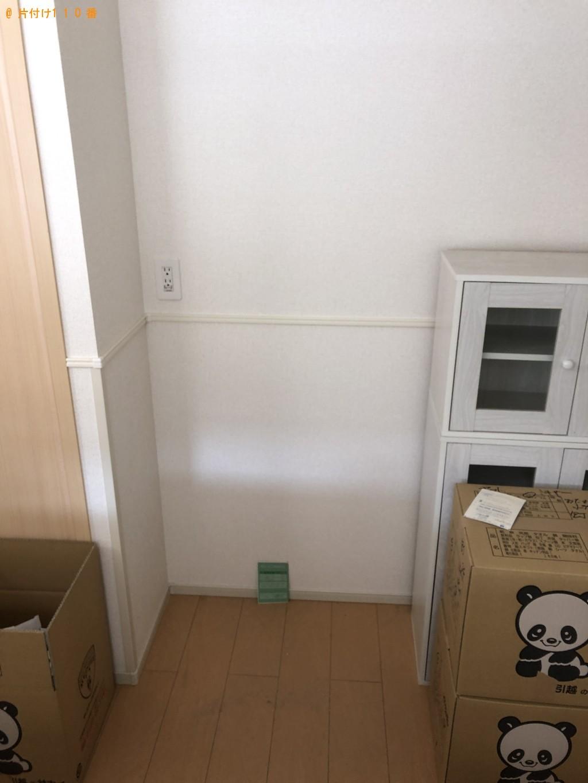 【塩竈市】遺品整理で冷蔵庫、ダイニングテーブル、シングルベッド等の回収