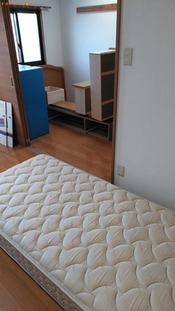 【東松島市】ガラステーブル、引き出し付きシングルベッド等の回収
