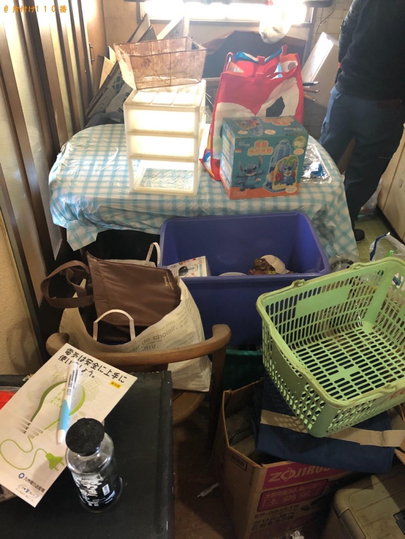 【塩竈市】四人用ダイニングテーブル、カラーボックス等の回収・処分