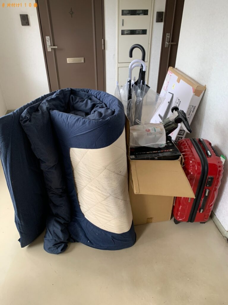 【石巻市】布団、ローテーブル、スーツケース、傘、小型家電等の回収