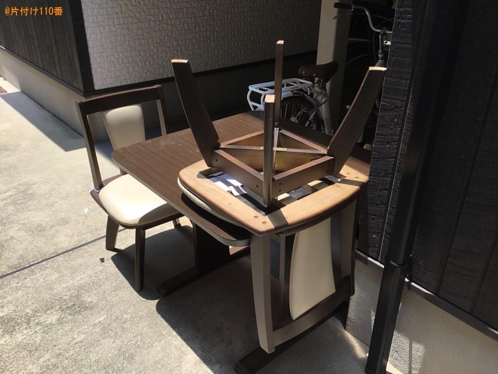 二人用ダイニングテーブル、椅子の回収・処分ご依頼 お客様の声