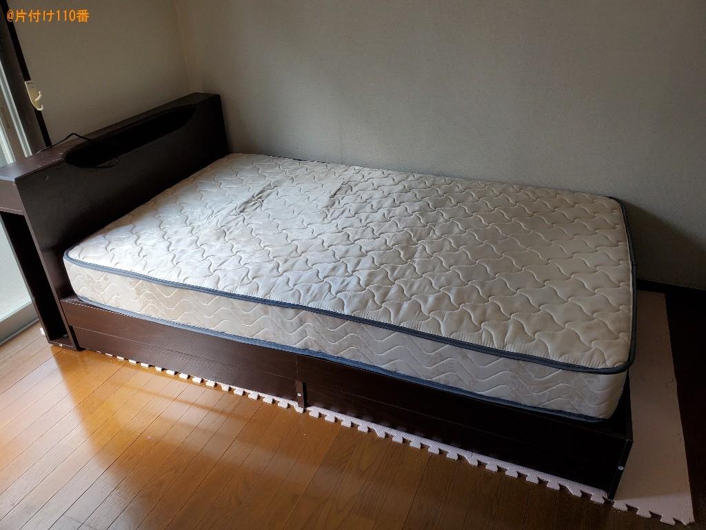 【仙台市若林区】マットレス付きセミダブルベッドの回収・処分ご依頼